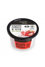 Organic Shop Mousse Corpo Idratante Fragola e Latte250ml
