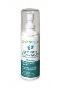 Green Natural Deodorante Spray Piedi e Calzature - 100 ml